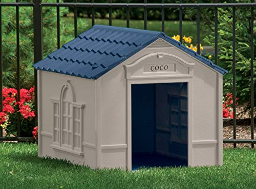 plastic dog house that will survive many years outdoors rough handling bad weather chewing dogs