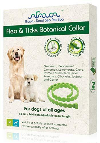 Arava flea tick botanical natural essential oil repellent collar