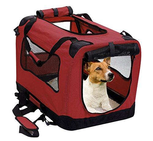 Best small dog soft side dog crate mesh windows carry handles lightweight