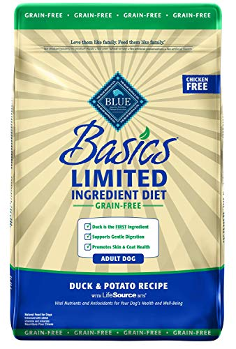 Blue Buffalo Basics Limited ingredient diet grain free for dogs with food sensitivities allergies