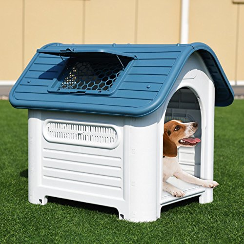 Dog house fresh air for dog keep pet cool in sun hot days airy ventilation