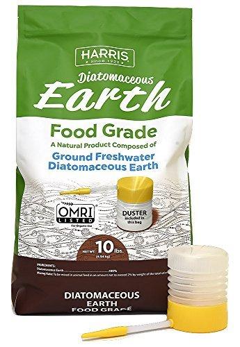 Harris diatomaceous earth ground silicon food grade natural flea killing treatment
