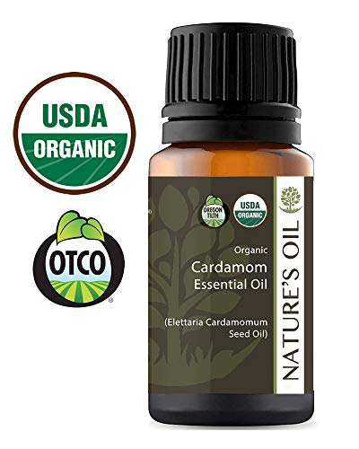 Nature's oil organic cardamom essential oil for dog GI pain stomach upset