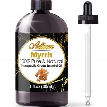 Artizen Myrrh Pure Natural Therapeutic Grade Essential Oil for dog anxiety