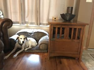 End table dog crates hide kennel in home match decor