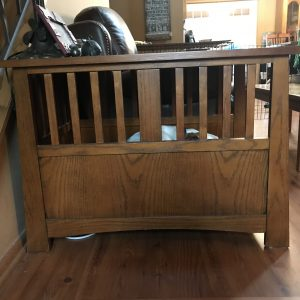 What is a furniture style dog crate end table information
