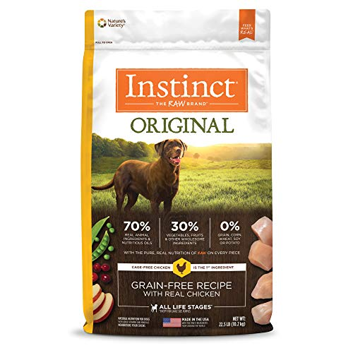 Instinct dog food brand compared with American Journey