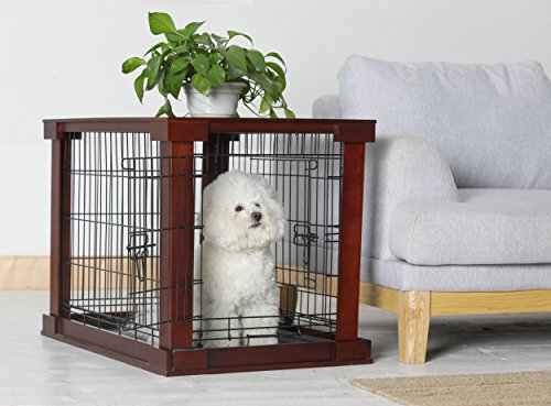Wire wood or plastic indoor dog crate furniture durable choices