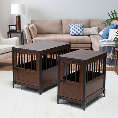 End table dog crate considerations size material quality wood mdf veneer