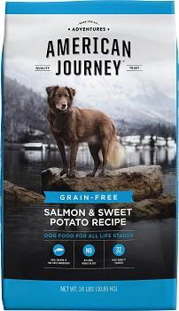 American Journey grain free salmon sweet potato dry dog food review
