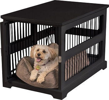 Merry Products Dog Crate and Table Wood Matches Decor