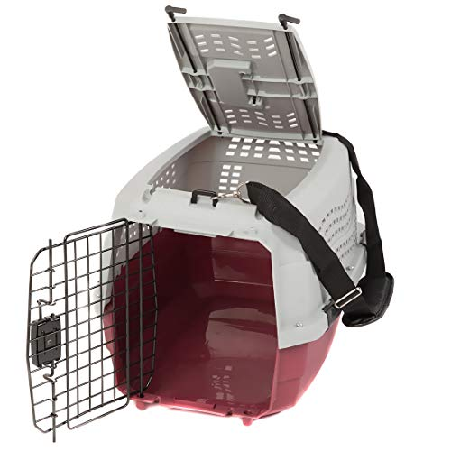 Favorite hard sided travel dog kennel top side opening easy access