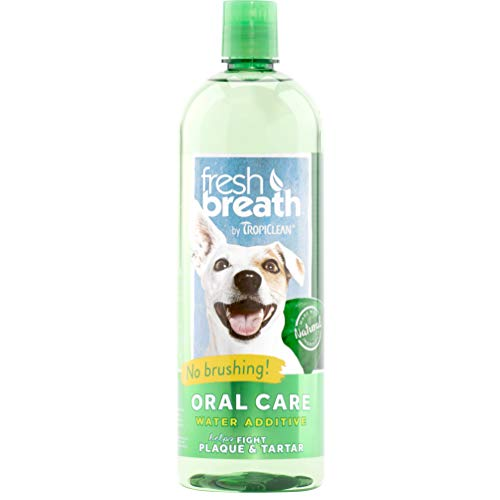 Dog mouthwash oral care water additive when cleaning toy to freshen breath