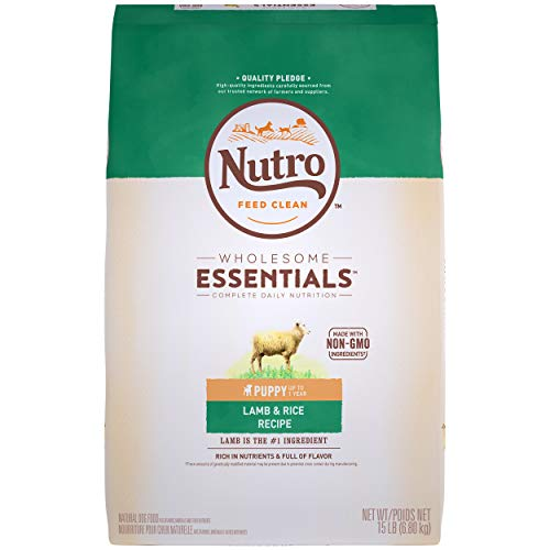 Nutro Feed Clean wholesome essentials puppy lamb rice recipe for sensitive stomachs