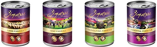 Zignature exotic flavors goat lamb guinea fowl zssential formula choices taste