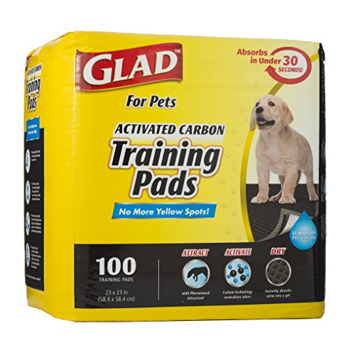 Glad for pets activated carbon training pads clean up accidents
