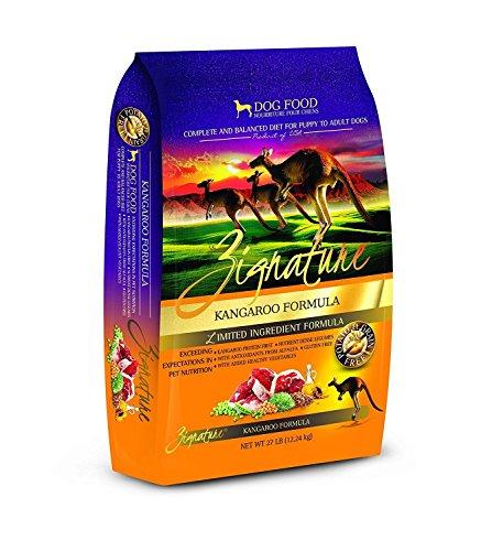 Zignature kangaroo flavored dry dog food great for sensitive pups