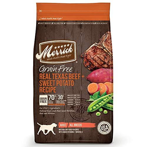 Merrick dog food brand comparison real Texas beef sweet potato