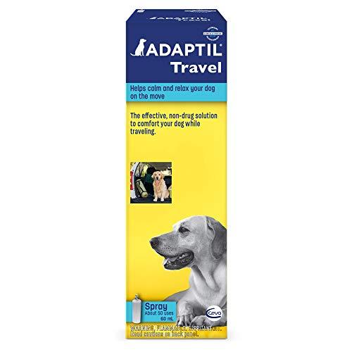 Adaptil travel pheromone calming spray helps dogs who hate water