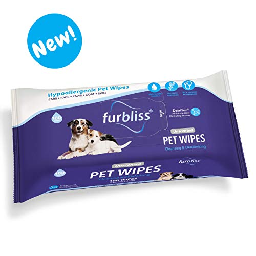 furbliss hypoallergenic pet wipes for keeping dog smelling nice without bathing