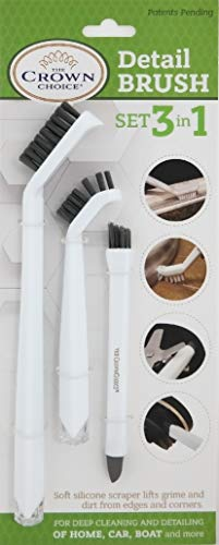 Detail brush alternative to toothbrush for cleaning small dog house parts