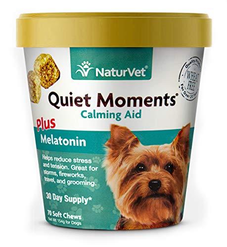 NaturVet quiet moments calming aid melatonin before bath