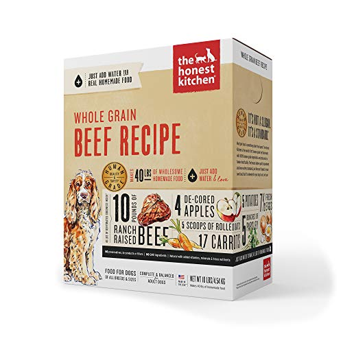 The Honest Kitchen whole grain beef high quality dog food