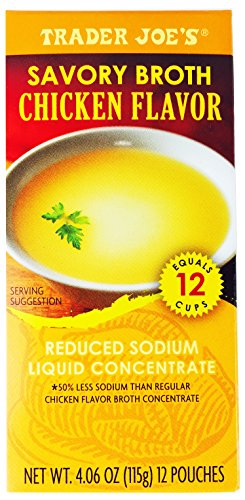 Savory broth chicken flavor low reduced sodium safe for dogs