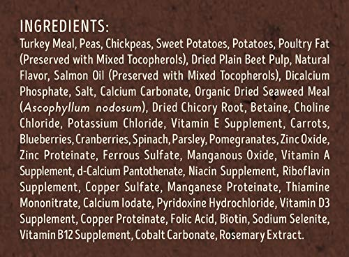 Supreme Source ingredients turkey peas sweet potatoes seaweed