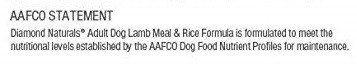 AAFCO nutritional adequacy statement dog food quality guarantee