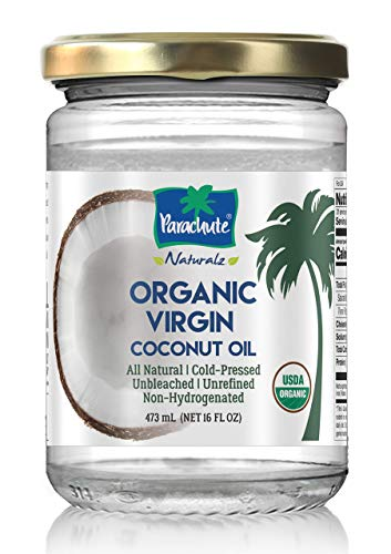 Parachute natural organic virgin coconut oil cold pressed unbleached unrefined