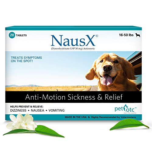 Sedate your dog with dramamine NausX dimenhydrinate USP antiemetic