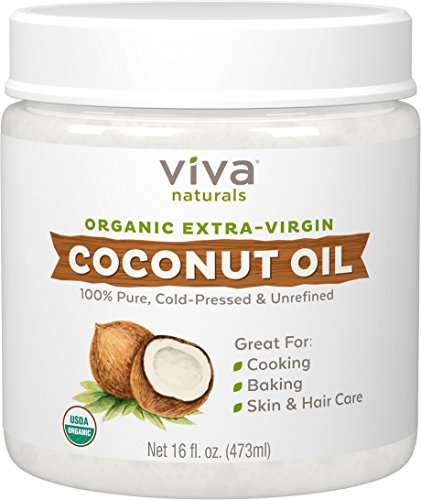 Viva naturals extra virgin coconut oil to help dogs poop when constipated