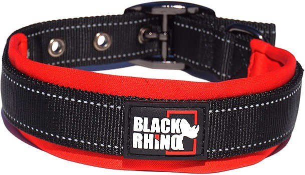 Black Rhino comfort collar soft padded comfortable choice for sensitive dogs