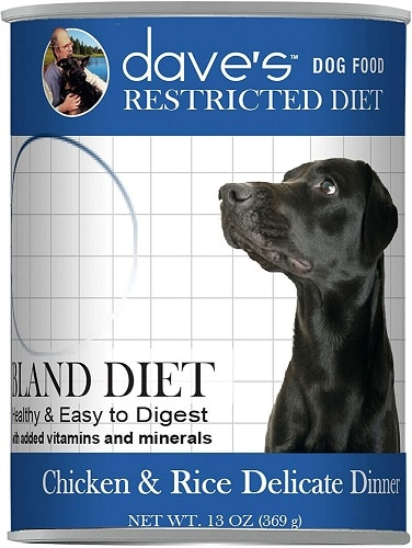 Daves restricted diet wet dog food in cans for low-sodium doggy dinners