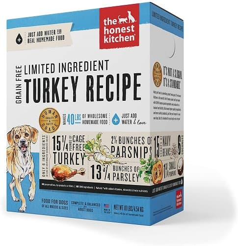 Honest Kitchen overall best low sodium dog food limited ingredient upgrade pick