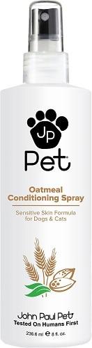 John Paul Pets oatmeal conditioner to cut down on dog dandruff