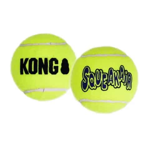 Kong Squeak Air invincible tennis ball for heavy duty chewing dogs