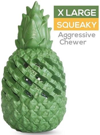 M C Works pineapple dog chew toy aggressive chewers pitbulls indestructible