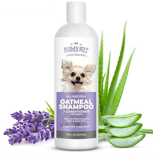 Mighty Petz Oatmeal Shampoo Conditioner good for dogs with dandruff