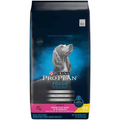 Purina Pro Plan sensitive stomach best low sodium dog food for most pets