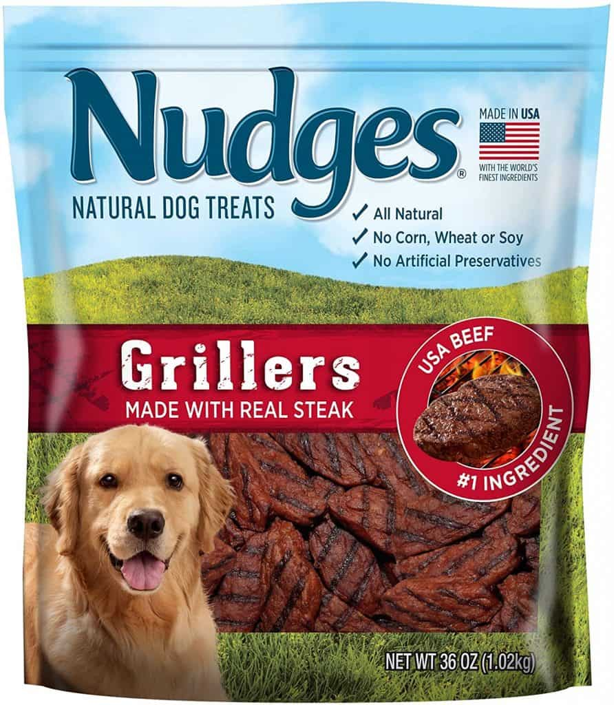Nudges Grillers real steak dog treats no corn wheat soy artificial flavors