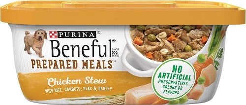Purina Beneful Prepared Meals Chicken Stew best dog food for toothless puppies