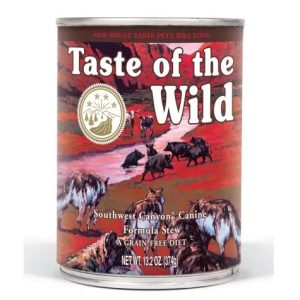 Taste of the Wild grain free canned dog food great for seniors without teeth