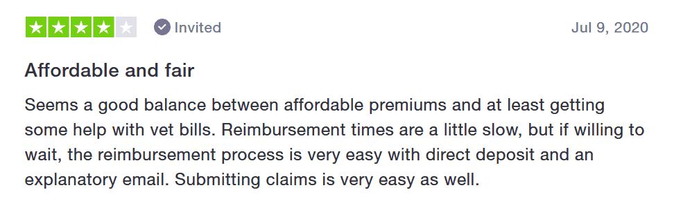 Pets Best review customer satisfaction slow reimbursement