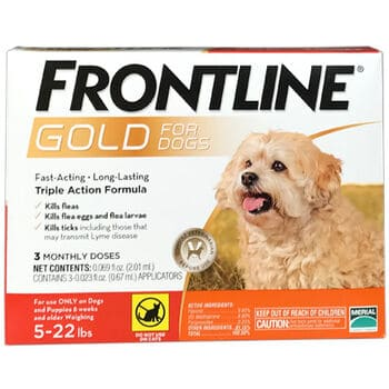 Frontline Plus Gold for Dogs active ingredients kills fleas faster