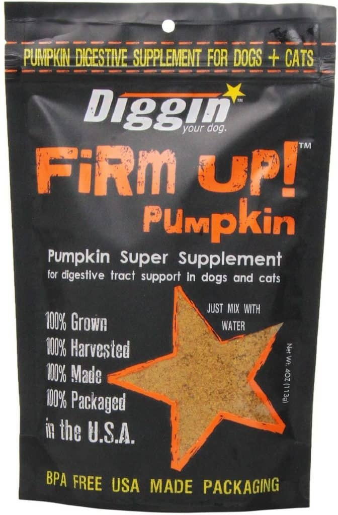 Diggin Your Dog Firm Up Pumpkin Supplement GI Health Dogs Good Poops
