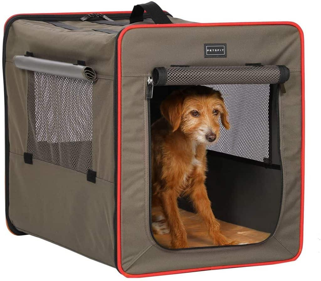 Petsfit sturdy soft sided crate for crate training a rescue dog