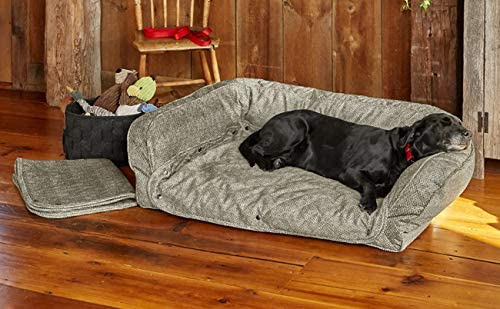 Orvis best orthopedic memory foam dog bed with bolster pillows