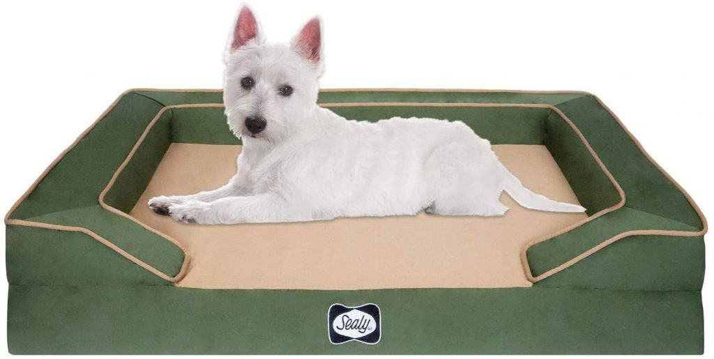 Sealy Lux orthopedic dog bed four layers cooling gel pad